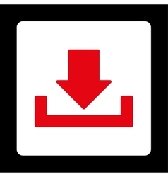 Download flat red and white colors rounded button vector