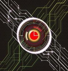Eye circuit abstract vector
