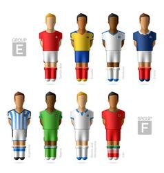 Footballers soccer players Brazil 2014 vector image