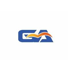 Ga letter logo vector