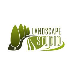 green landscape design studio icon vector image vector image