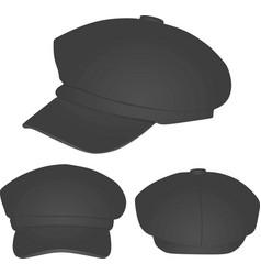 Grey winter cap vector