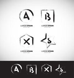 Grunge alphabet letter icon vector image vector image