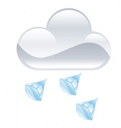 hail illustration vector image