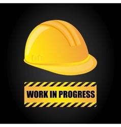 Helmet icon work in progress design vector