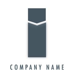 I grey logo vector image vector image