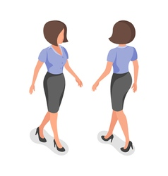 isometric of businesswoman vector image