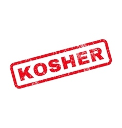 Kosher text rubber stamp vector