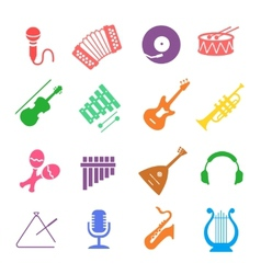 Musical instruments icon set vector image