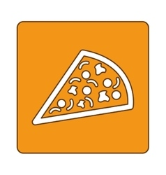 Pizza fast food emblem icon vector