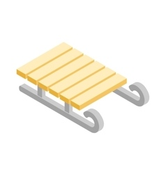 Sled icon isometric 3d style vector