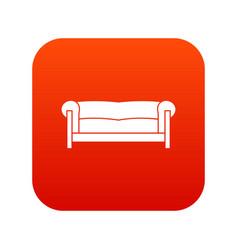 sofa icon digital red vector image vector image