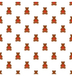 Toy bear pattern cartoon style vector