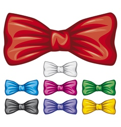 Bow ties collection vector