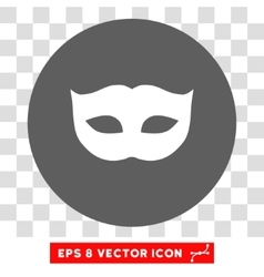 Privacy mask round eps icon vector