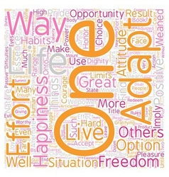 The essence of freedom text background wordcloud vector