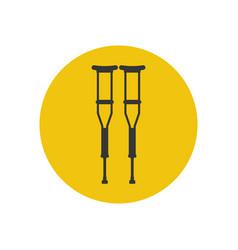 Crutches silhouette vector