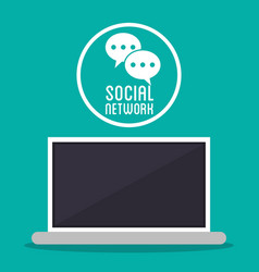 social network computer message texting bubble vector image