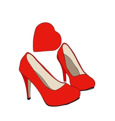 Shoes that passion vector
