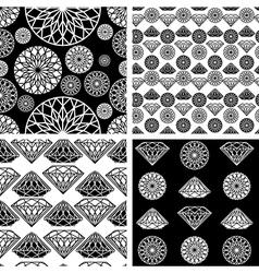 seamless diamonds set 1 vector image