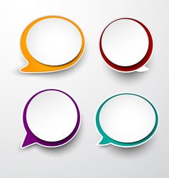 Paper set of rounded speech bubble vector
