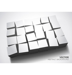 3D Cubes design background vector image