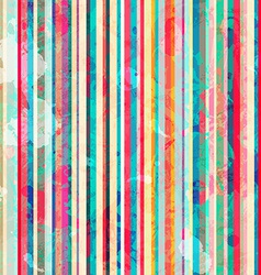Colored lines seamless pattern with blots effect vector