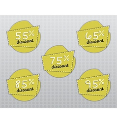 Sale stickers and labels with sale up to 55 - 95 vector
