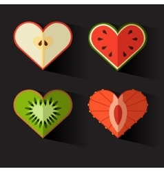 Fruit hearts on valentines day eps10 vector