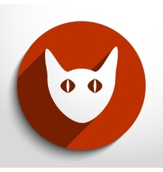 Cat web icon vector