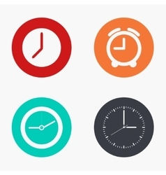 modern clock colorful icons set vector image