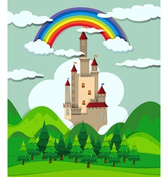 Castle in the forest vector