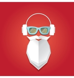 Christmas hipster greeting card vector