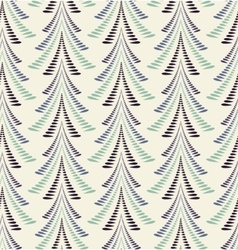 Seamless christmas pattern firs trees on light vector