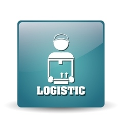 Logistic and pictogram design vector