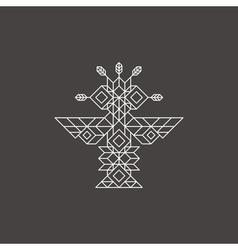 Tribal owl symbol ornate owl symbol line art vector