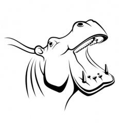 hippopotamus head vector image
