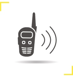 Radio set icon vector
