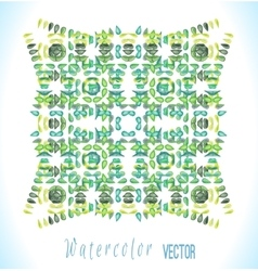 watercolor square with colorful drops vector image