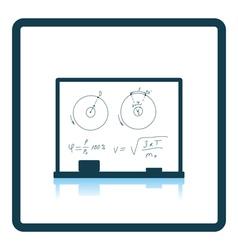 Icon of Classroom blackboard vector image