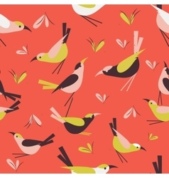 Seamless pattern bird vector