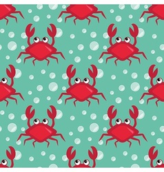 Funny crabs pattern vector image