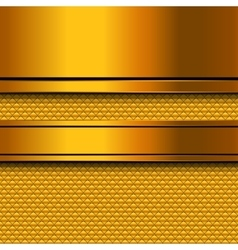 Abstract golden metal background vector