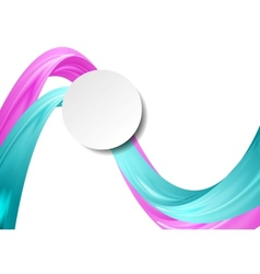 Abstract smooth wavy background vector image vector image