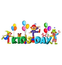 Banner design with word kids day vector