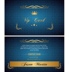 Blue vip card vector