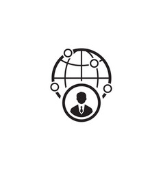 Business representative icon flat design vector