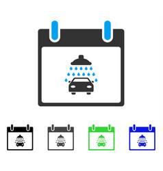 Car shower calendar day flat icon vector