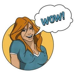 Comics Woman Face vector image vector image