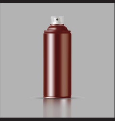 copper paint aerosol spray metal bottle can vector image vector image